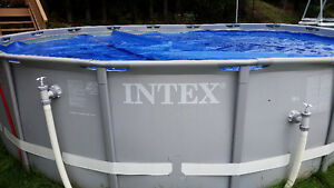 Intex Pool 16 feet in diameter with Solar Cover and Accessories
