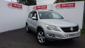2008 08 VOLKSWAGEN TIGUAN 2.0TDI 4 MOTION ESCAPE.FSH.FRESHLY SERVICED.2 X KEYS .