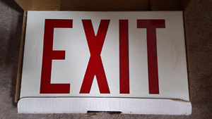 lights up commercial exit sign