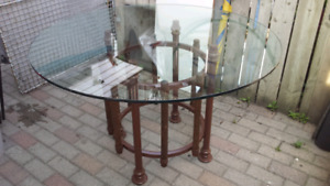Glass top table only
