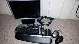 LG monitor and keyboard and mouse