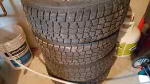 4 studded winter tires 15""