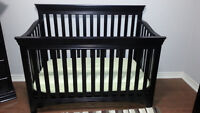 Solid maple Crib and 2 matching dressers