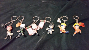 Naruto key chains and poster