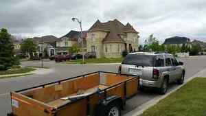 Rental trailer, for moving  $40.00 h. With Driver