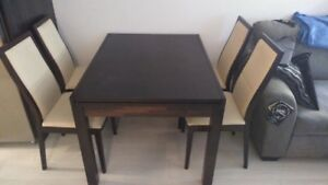Calligaris Extendable Dining Room Table and Chairs