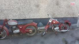 Two 1950s James motorbikes