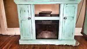 Turquoise Electric Fireplace