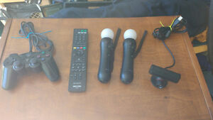 Playstation PS3 Motion Controllers, Eye Camera, BD Remote + more