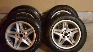 BMW X5 OEM RIMS with winter tires - 255/55R18