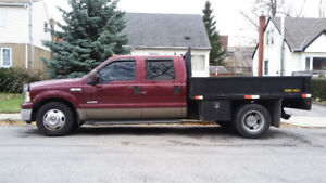 2005 F350 Dually, Lariat Super Duty, Diesel, Flatbed with Doors
