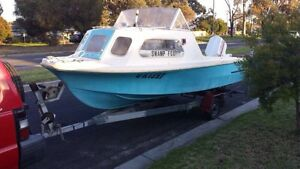 4.5m half cabin fibre glass boat & trailer Hastings Mornington Peninsula Preview