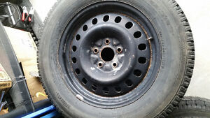 winter tires and rims 225/65r17 Peterborough Peterborough Area image 1