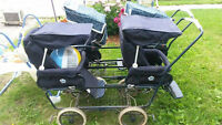 Two Peg Prego double strollers