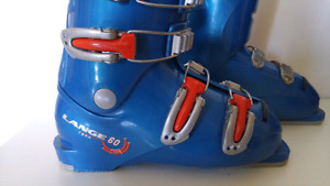 Lange Team 60 Junior Ski Boots / Bottes de Ski  Size 22.5