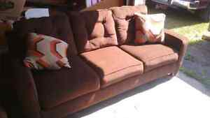 Brown couch set mint condition
