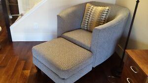 Urban Attitudes Deco La-Z-Boy Chair with Ottoman