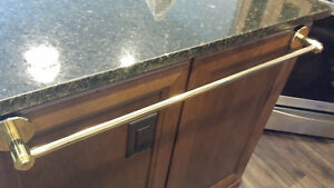 "SOLID BRASS TOWEL BARS up to 30""...BRAND NEW - $30"
