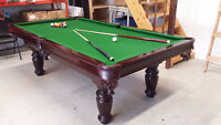 TORONTO BILLIARD TABLE MOVERS & SERVICES   416 827 6351