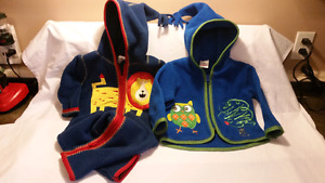 Hanna Andersson Baby Fleece 1pc & Jacket Size 70,6-12mts,Ex Cond