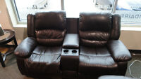 Motion Bonded Leather Loveseat