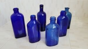 Cobalt Blue Bottle Lot