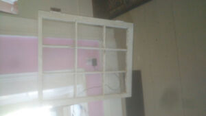 Antique windows...great for weddings, crafts, or greenhouses.