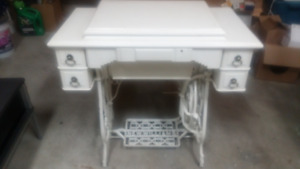 antique table/sewing machine
