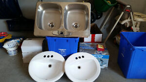 Stainless Steel Double sink and bathroom sinks