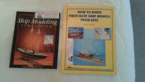 Ship Modeling from kits - 2 books