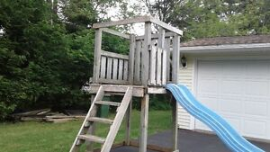 playset with 2 swings  6 ft slide truro