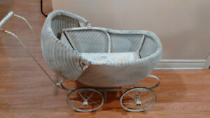Antique wicker buggy