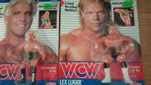 Wrestling ,WCW Galoob Ric Flair, Lex Luger and Sting Peterborough Peterborough Area image 3