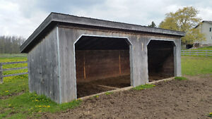 Two Denco 10'x30' Run in sheds