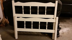 White Twin Bed with boxspring