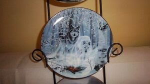 "Wolf Art, Bradford Exchange ""Collectable Fine Porcelain Plates Kitchener / Waterloo Kitchener Area image 2"