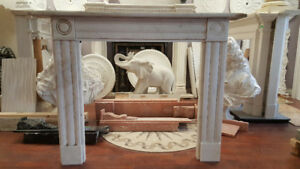 real marble fireplace mantel on sale