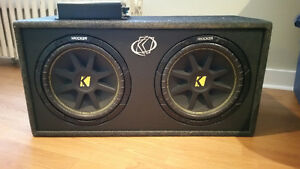 "1100 watt BOSS amp and 2 12"" kicker sub"