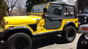 1976 Jeep CJ7 Convertible -  Fibreglass tub and front fenders