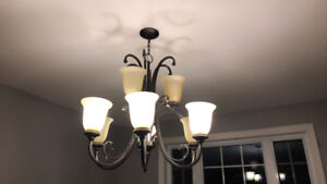 9 light -frosted chandalier