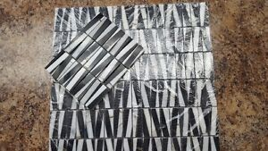 NEW PRICE - Wall Tile - Marble -Black and White