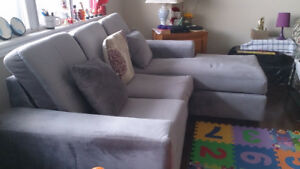 Used L -shaped grey colour couch (1 Year Old)