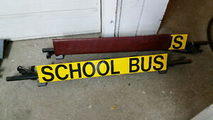 2 - school bus signs - roof mounted