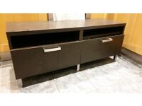⚡⚡ IKEA Black TV Bench/Stand Unit with 2 drawers⚡⚡