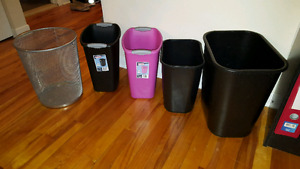 Assorted trash containers
