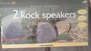 "BN, in box, ""Paradise"" Outdoor, Rock Speakers, set of 2"
