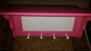 Pink Shelf with hangers