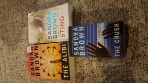 Books by Sandra Brown. Pet free smoke free. No bent pages