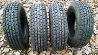 4- 215/75R15 Studded Winter Cooper Weather Master Tires