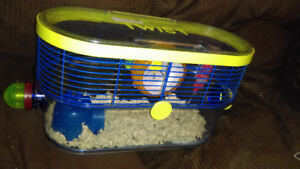 Twist hamster cage.